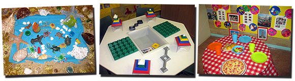 Photo of the wide variety of educational activities at Minooka Pre School Oatley childcare Sydney